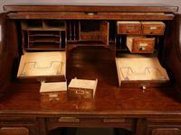 Good Oak Roll Top Desk by Maples London (8 of 12)