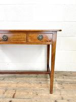 Antique Mahogany Side Table with Drawers (5 of 10)