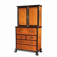 Anglo-Chinese Camphor & Ebony Campaign Secretaire Bookcase (11 of 15)