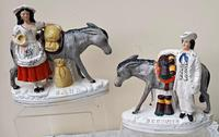 Pair of Victorian Staffordshire Figures - Sand & Beesums