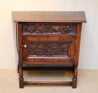 French Dark Oak Side Cabinet
