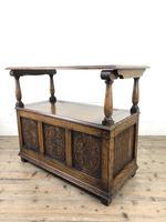 Antique Carved Oak Monks Bench Hall Seat (7 of 10)