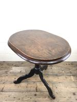 Antique Victorian Mahogany Oval Top Side Table (8 of 10)