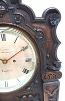 Antique English Twin Fusee Bracket Clock by Carter Cornhill London 8 Day Fusee Striking Mantel Clock (4 of 12)