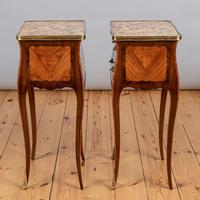 Pair of French Walnut & Kingwood Bedside Cabinets (3 of 8)