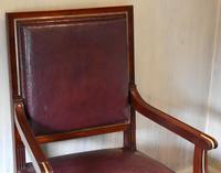 Pair of French Directoire Leather Armchairs (6 of 16)