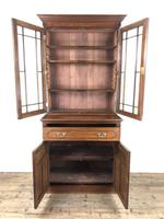 Antique 19th Century Two Stage Mahogany Bookcase (6 of 19)