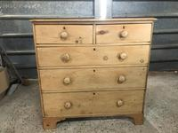 Victorian Large Stripped Pine Chest of Drawers (5 of 6)