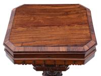 Victorian C1860 Rosewood Gothic Work Side Sewing Table Box (5 of 11)