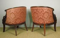 Fine Pair of Empire Style Mahogany Armchairs with Carved Swan Arms (7 of 7)