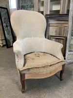 Antique French Balloon Back Armchair (3 of 6)