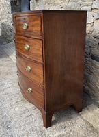 Large Regency Mahogany Bow Front Chest of Drawers (5 of 19)
