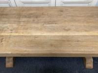 Large French Bleached Oak Farmhouse Dining Table (12 of 19)