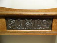 Arts & Crafts Oak Console Table (3 of 7)
