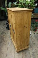 Lovely Old Stripped Pine Food Cupboard / Linen / Larder / Storage  - We Deliver! (5 of 9)