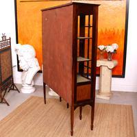 Edwardian Glazed Bookcase Inlaid Mahogany (9 of 9)
