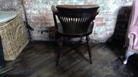 Gillows Quality Leather Backed Desk Chair with Refinements (3 of 5)