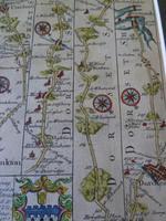 """18thC Road Map Dorset """" Dunkton - Weymouth"""" c1720 Britannia Depicta (3 of 5)"""