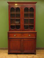 Antique George II Mahogany Secretaire Bookcase of Immense Character (6 of 16)