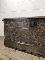 Antique Carved Oak Coffer or Blanket Box (6 of 11)