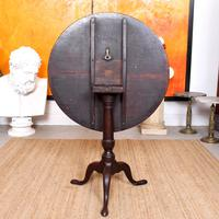 Georgian Tripod Table Tilt Top Mahogany Folding (5 of 9)
