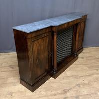 Beautiful Regency Rosewood 3 Door Breakfront Cabinet (6 of 11)