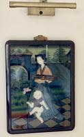 Decorative Chinese Reverse Painting. 1920's (7 of 8)