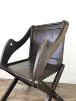 Unusual Antique Oak Gothic Armchair (6 of 9)