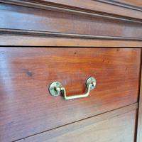 Large Antique Bank of Mahogany Drawers c.1880 (3 of 8)