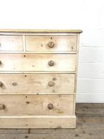Antique Pine Chest of Drawers on Plinth Base (4 of 9)