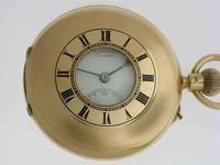 J.W. Benson 18kt Yellow Gold Swiss Made   Half Hunter Pocket Watch – Hallmarked London 1929