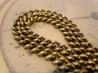Antique Pocket Watch Chain 1890s Victorian Brass Albert With Swivel T Bar (5 of 10)