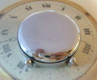 Vintage Smiths or Ingersoll Pocket Watch Case 1940s Original Chrome Bedside Case (9 of 11)