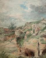John Charles Denham (Exh.1796-1858) Fine Original Landscape watercolour Painting (7 of 13)