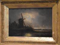 Victorian Night Scene Oil Painting (5 of 6)