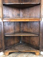 Antique Early 19th Century Oak Standing Corner Cupboard (3 of 7)