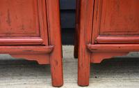 Excellent Pair of Chinese Red Lacquered Cabinets / Cupboards c.1900 (12 of 14)