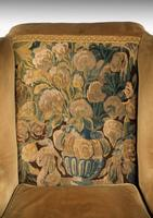 George III Period Wing Chair Incorporating a Verdure Tapestry Panel (5 of 6)