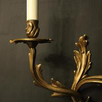 French Pair of Gilded Antique Wall Sconces (6 of 10)