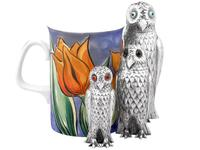 Sterling Silver Owl Pepperettes - Antique Victorian (3 of 12)