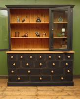Black Painted Pine Apothecary Cabinet Style Dresser with Multi Drawer Base (6 of 18)