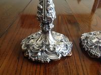 Pair of Ornate Antique Victorian Silver Candlesticks - 1844 / 1845 (2 of 8)