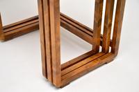 Original Art Deco Figured Walnut Nest of Tables (7 of 11)