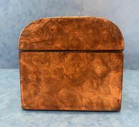 Victorian Brassbound Burr Walnut Glove Box (5 of 9)