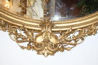 Large Antique French Giltwood Mirror (6 of 6)