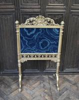 Giltwood firescreen with painted malachite panel (4 of 4)