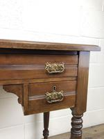 Antique Victorian Mahogany Side Table (12 of 13)