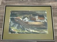 Scottish Mixed Media Painting Cottages in Ayrshire Signed Robert Sinclair Thomson 1915-1983 ARSA, RSW (21 of 27)