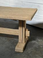 Primitive French Bleached Oak Farmhouse Dining Table (14 of 20)