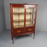 Antique Sheraton Style Inlaid Mahogany Display Cabinet (2 of 18)